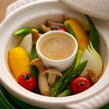 蒸し野菜のバーニャカウダー