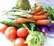 とれたての有機野菜を使用。