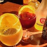 「自家製サングリア」 ワイン酒場 Giorno~ジョルノ~オリジナル・レシピで仕込んだサングリアは フルーティーで美味しい!と好評です