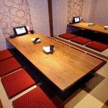 【掘り炬燵個室・11名~20名様席】仲間内の宴会などは団体様用個室がおすすめ。