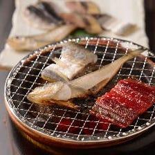 日本酒と相性抜群!炭火七輪の炙り焼