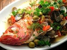 お皿50㎝の原価率70%アクアパッツァ