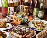 季節を映すお料理がボリュームたっぷりに並ぶコースは飲放付5000円~