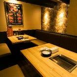 多彩な個室・半個室は、接待・デート・宴会に最適◎