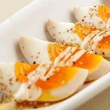 絶妙な玉子感を特製ソースで!コッコのおつまみたまご☆あべ養鶏場「下川六〇酵素卵」使用の逸品!