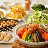 宴会コースも充実☆塩ザンギの札幌スープカレー鶏鍋コース
