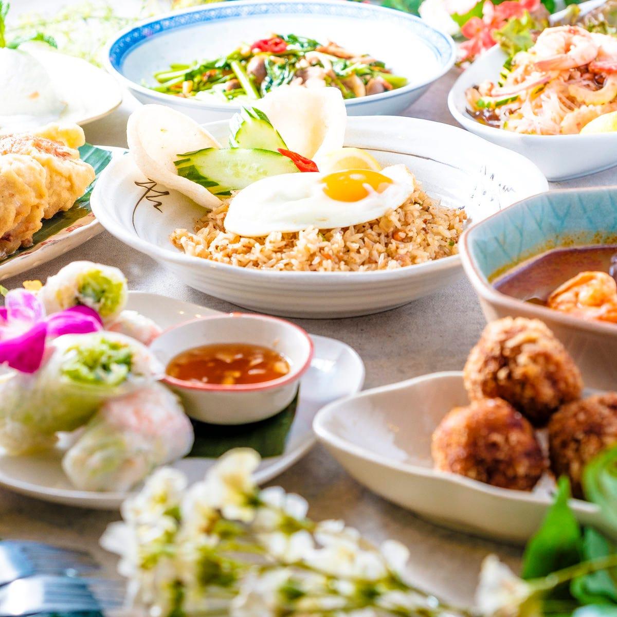 人気のアジア料理満載の「おすすめプラン」は3H飲み放題付!
