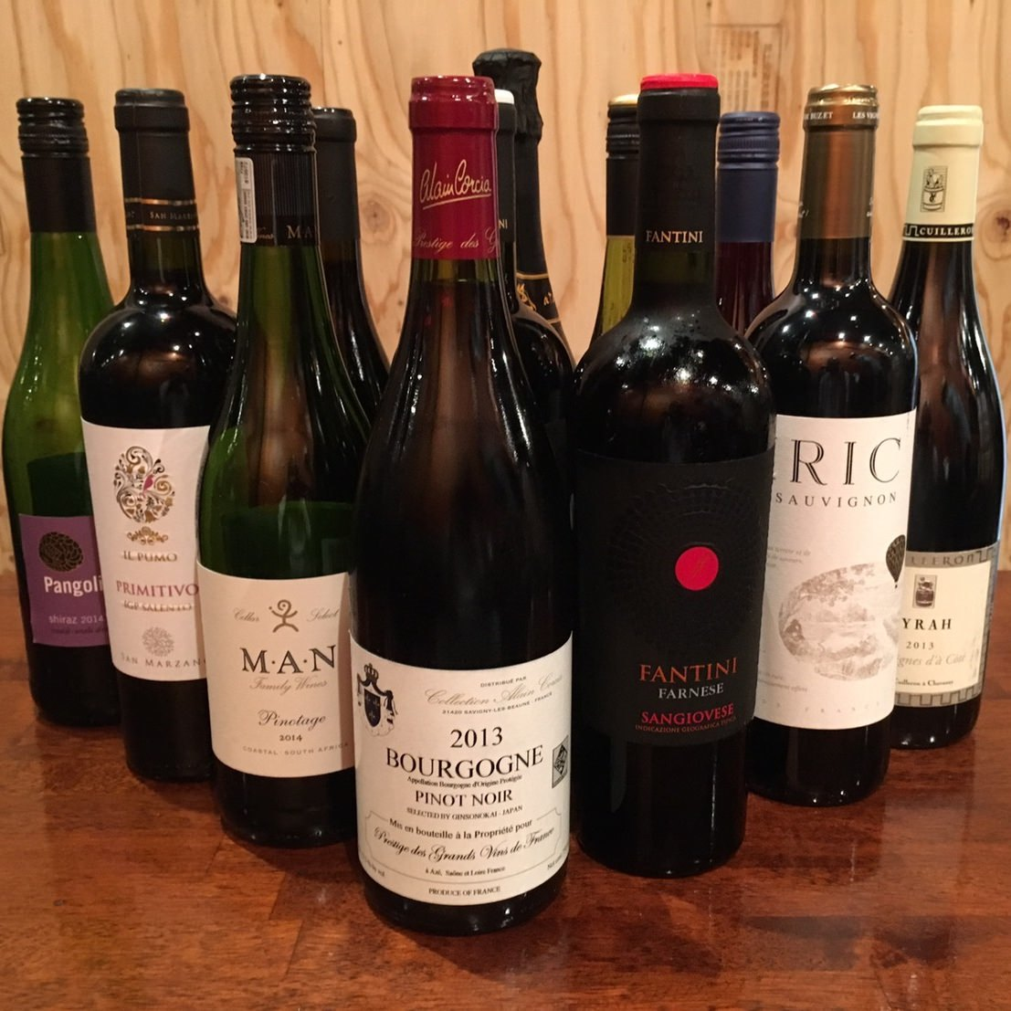 こだわりワインの数々