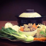 牛すじ肉団子野菜鍋
