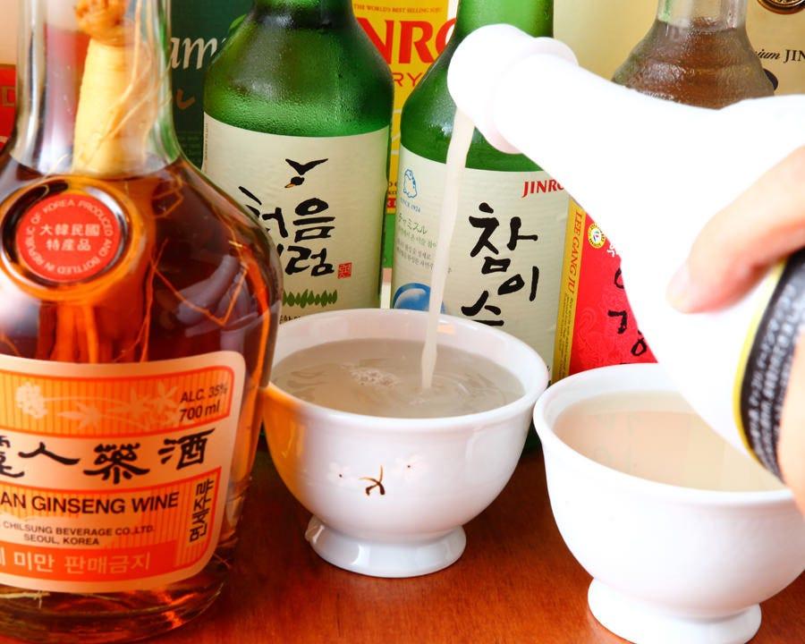 韓国伝統酒をはじめ品揃え豊富