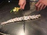 太刀魚の編み込み焼き