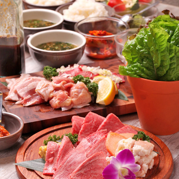 上質なお肉を堪能できるコースを複数ご用意しております。