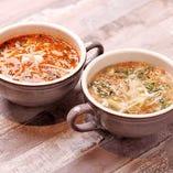 テールスープは赤と白の2種類♪