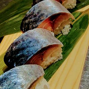 本日のお土産  自家製鯖の棒寿司