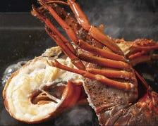 プリプリの伊勢エビは、濃厚なウニソース焼きが人気!