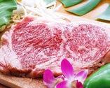 もとぶ牛のサーロインステーキ(100g) & 伊勢エビ(ウニソース焼き)