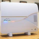 全てのお部屋とフロントに高イオン化エネルギーの「イオンクラスター」の「ファシオン」を設置しております