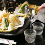 天ぷらとの相性も抜群の地酒もあります!