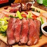◆国産 霜降り牛 溶岩鉄板 肉プレート◆【仙台市】