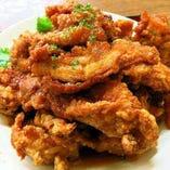 中洲名物・若鶏の唐揚げ