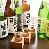 お料理に合せて各地の地酒・日本酒も揃えています。