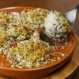 牡蠣のアンチョビガーリックパン粉焼き