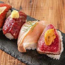〆は【肉まみれ寿司】で舌鼓み♪