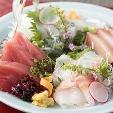 季節ごとの鮮魚は直接仕入れ
