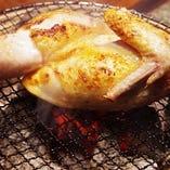 地養鶏半身の炙り焼き 1100円