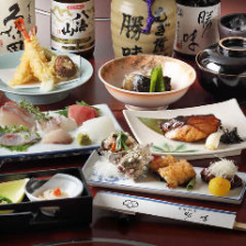 旬の食材を使った本格和食コース