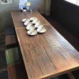 最大8名様まで着席可能な「テーブル席」