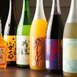 梅酒やかぼす酒・ぶどう酒・メロン酒など珍しい果実酒も