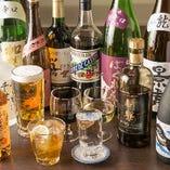 飲み放題はビール・焼酎・ウイスキーのほか厳選日本酒やワインも