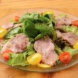 相模豚のローストポークのサラダ仕立て 柚子胡椒ドレッシング バルサミコソース