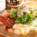 海のカルパッチョ 5種のソース