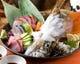 旬のイカの姿造り付き 本日の玄海朝〆刺身盛り合わせ1280円