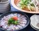 天然旬魚で海鮮しゃぶしゃぶ 季節によりタイやブリ、マグロなど
