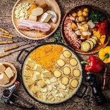 4種の焼きチーズフォンデュ