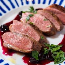 【豪華10品肉3種盛り!】肉好きは是非こちらを!黒毛和牛・銘柄鶏・銘柄豚3種!2H飲み放題付 10品 6,000円