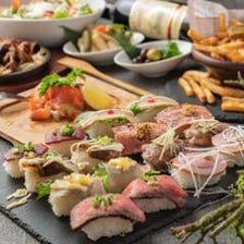 人気ランキングNo1ローストビーフ食べ放題★肉寿司食べ放題可8品3時間飲み放題4500→3500円