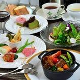 シェフがこだわる京都の新鮮な食材を使用したお料理。