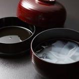 名物くずきり。 金沢 柿木畠の姉妹店「つぼみ」でもご提供。