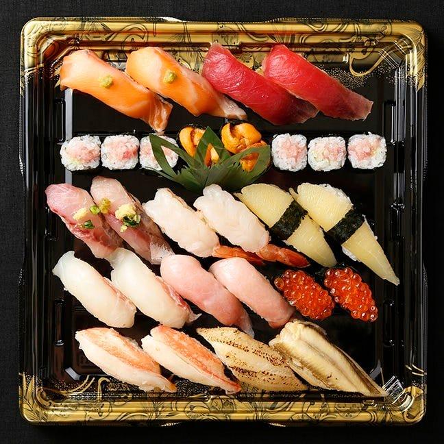 【テイクアウト専用】本格江戸前寿司をご家庭で!2人前 全24貫 特上きり