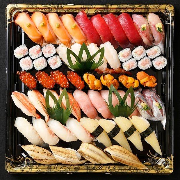 【テイクアウト専用】本格江戸前寿司をご家庭で!4人前 全48貫 特上きり
