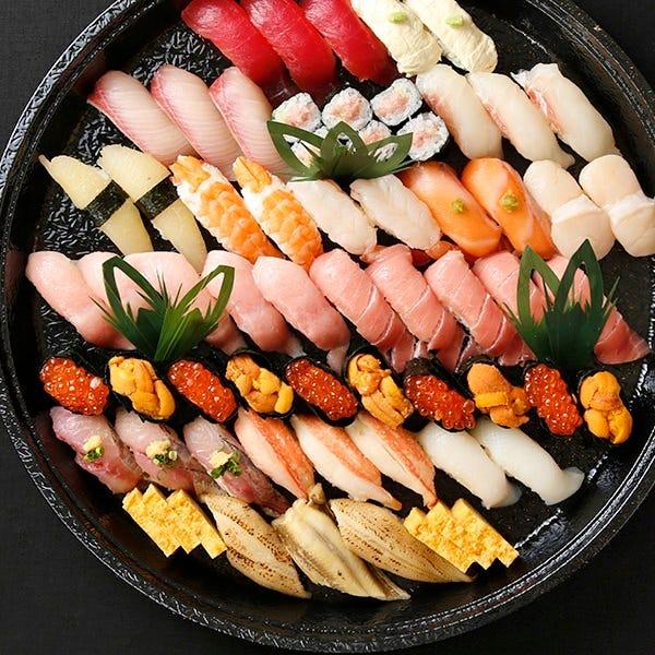 【テイクアウト専用】本格江戸前寿司をご家庭で!5~7人前 全56貫 特撰華盛り