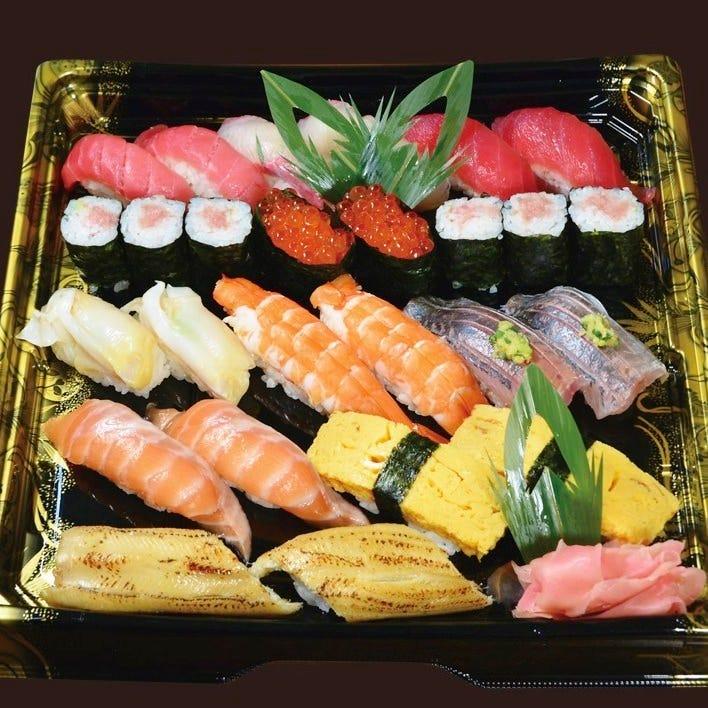 【テイクアウト専用】本格江戸前寿司をご家庭で!2人前 やしお