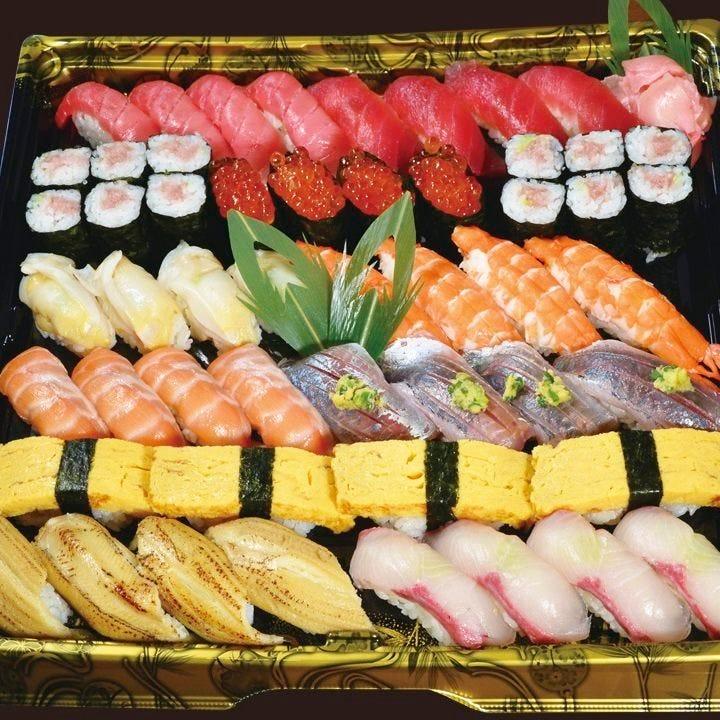 【テイクアウト専用】本格江戸前寿司をご家庭で!4人前 やしお