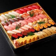 すし華亭のお持ち帰り寿司メニュー