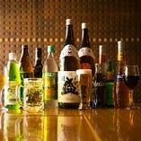 ドリンクメニューも豊富。特にワイン・焼酎の品揃えに自信あり!