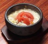 丸ごとトマトの石焼ハーブリゾット